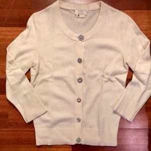 Kate Spade Cardigan with Rhinestone Buttons